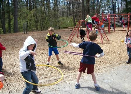 Children Having Fun at Recess