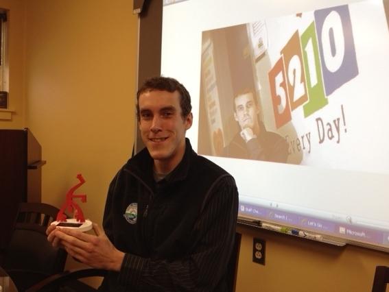 Van Receiving a Redy Award